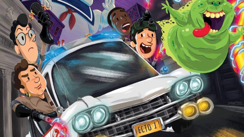 Libro per bambini interattivo: Ghostbusters Ectomobile Race Against Slime