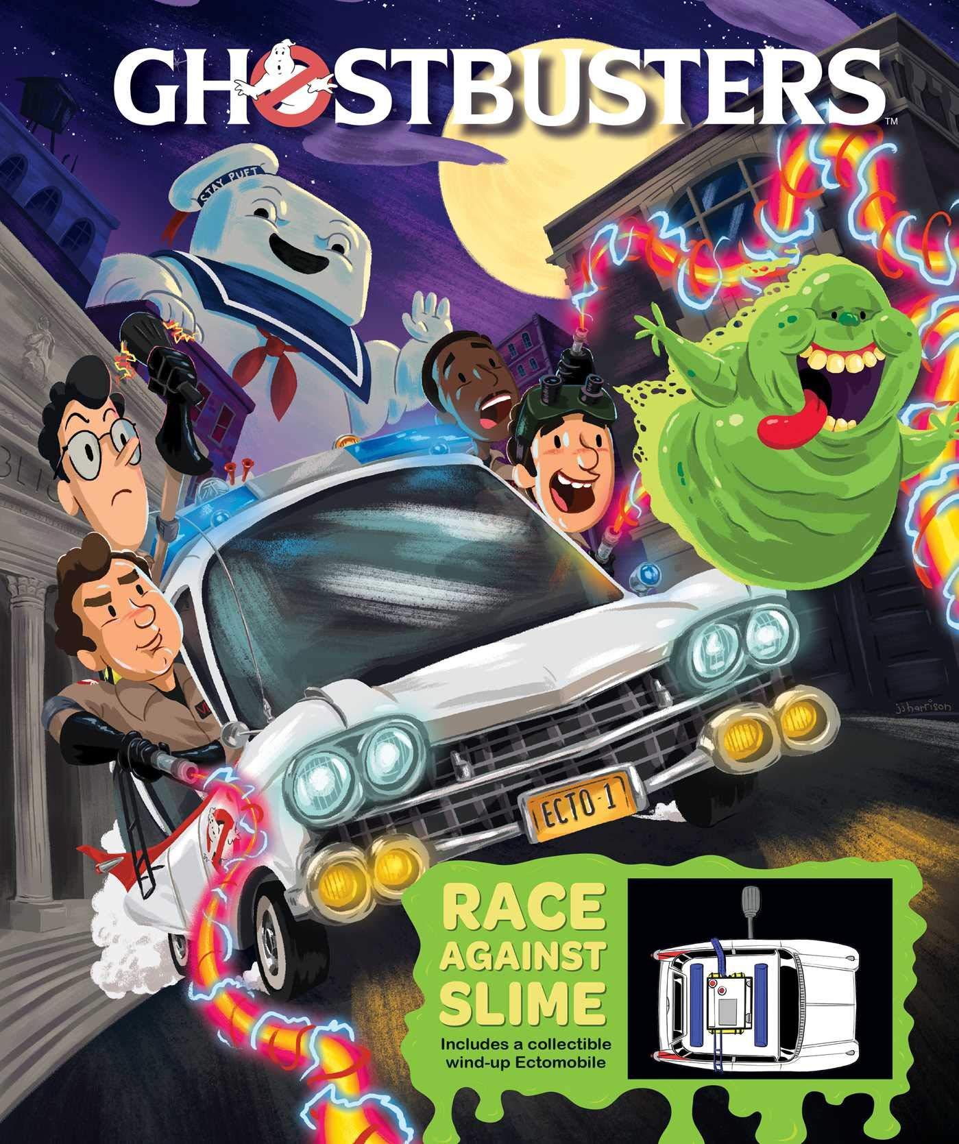 Libro per bambini interattivo: Ghostbusters Ectomobile Race Against Slime