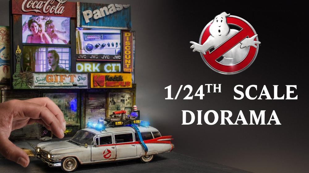 Spettacolare diorama Ghostbusters a Times Square