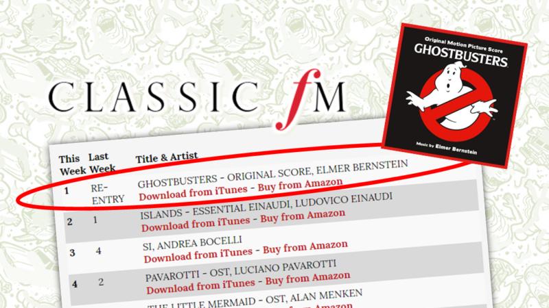 35° Anniversario: Tema musicale di Ghostbusters al primo posto!