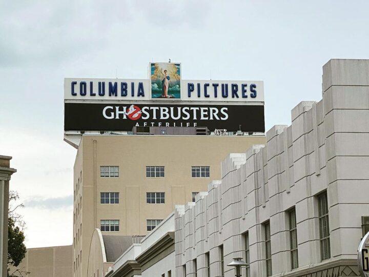 Banner Ghostbusters: Afterlife presso gli studi della Sony Pictures