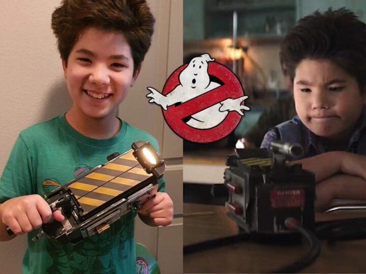 Regalo per Logan Kim il piccolo attore di Ghostbusters: Legacy
