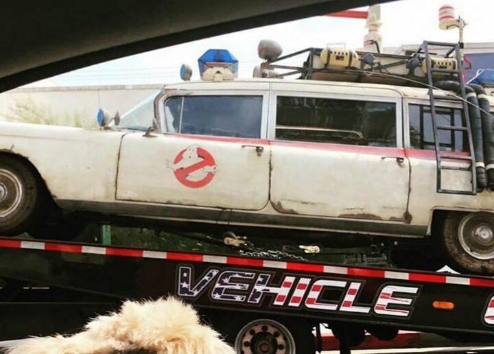 La Ecto-1 di Ghostbusters: Afterlife negli Studios della Sony