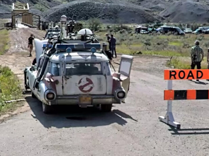 Su Apple Maps Ecto-1 di Ghostbusters: Afterlife durante le riprese