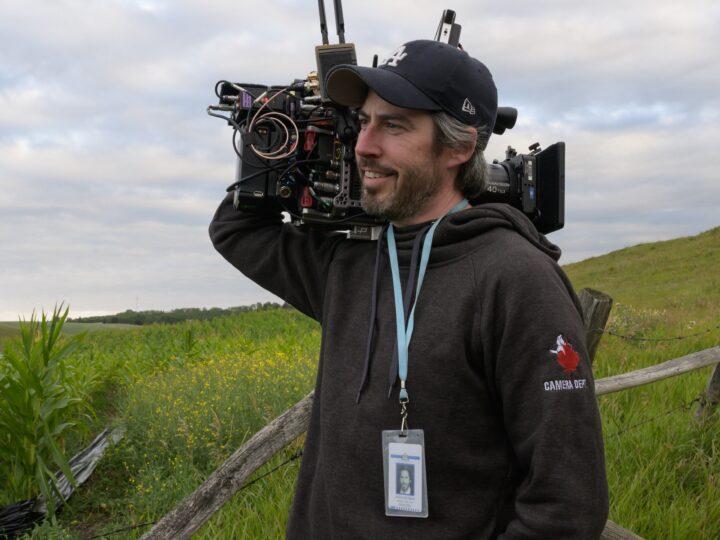 Foto dal set di Ghostbusters: Legacy con il regista Jason Reitman