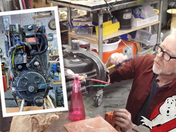 Spettacolare servizio fotografico allo zaino protonico di Ghostbusters Legacy e replica personalizzata di Adam Savage